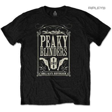 Official T Shirt PEAKY BLINDERS Shelby 1919  'Soundtrack' Black All Sizes