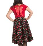 Hell Bunny 50s Skirt Vintage Retro Rockabilly SWEETIE Cherry Black  All Sizes Thumbnail 4