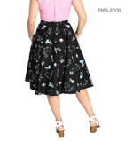 Hell Bunny 50s Black Skirt Vintage Retro Rockabilly BINKY Bunnies All Sizes Thumbnail 3
