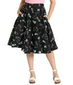 Hell Bunny 50s Black Skirt Vintage Retro Rockabilly BINKY Bunnies All Sizes Thumbnail 2