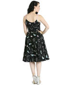 Hell Bunny 50s Black Dress Vintage BINKY Easter Bunnies Flowers All Sizes Thumbnail 4
