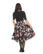 Hell Bunny 50s Black Skirt Wonderland QUEEN OF HEARTS Roses Cards All Sizes Thumbnail 4