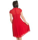 Hell Bunny 40s 50s Elegant Pin Up Dress PAIGE Red Chiffon All Sizes Thumbnail 4