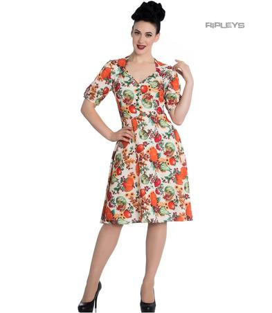 Hell Bunny 40s 50s Pin Up Vintage Dress HARVEST Autumn Pumpkins All Sizes Preview