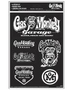 Official Gas Monkey Garage A4 Set of 6 STICKERS #6 Blood Sweat Beers Gift Thumbnail 1