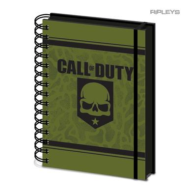 Official CALL OF DUTY A5 Notebook Journal SKULL Evergreen Stationery