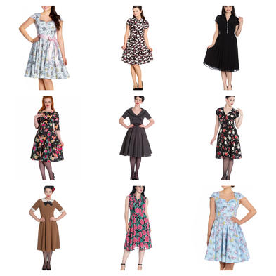 Wholesale Mixed Vintage RETRO 50s Job Lot 10 HELL BUNNY Dresses XS 8 #2