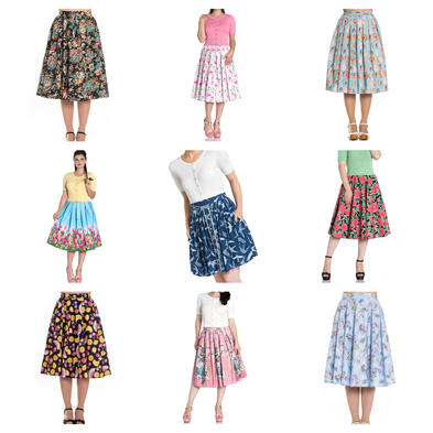 Wholesale Mixed Vintage RETRO 50s Job Lot 10 HELL BUNNY Skirts XS 8 #1