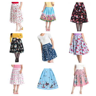 Wholesale Mixed Vintage RETRO 50s Job Lot 10 HELL BUNNY Skirts XXL 18 #3