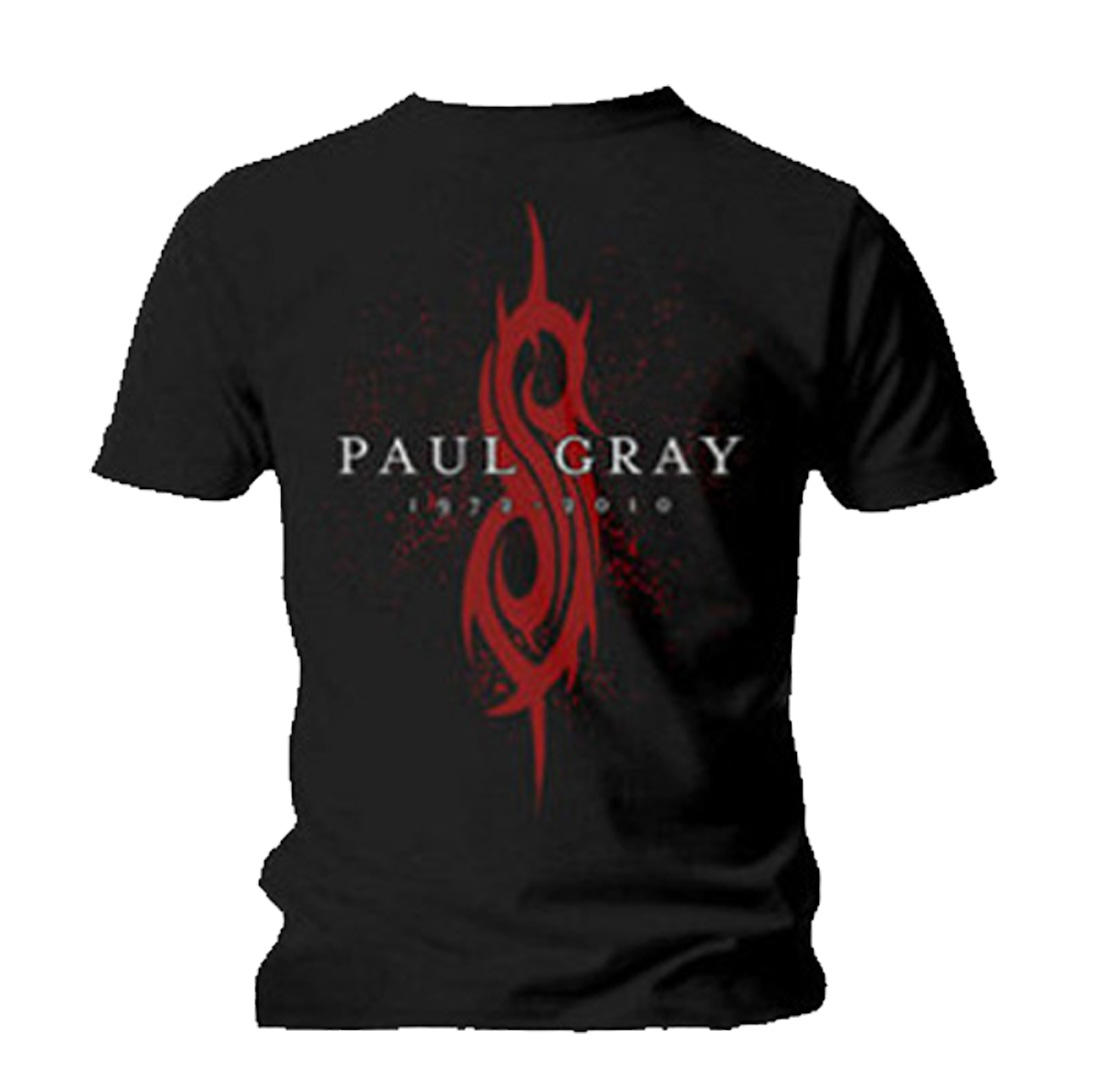 Official-T-Shirt-SLIPKNOT-Band-Logo-PAUL-GRAY-All-Sizes miniatuur 5