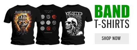 official band t-shirts