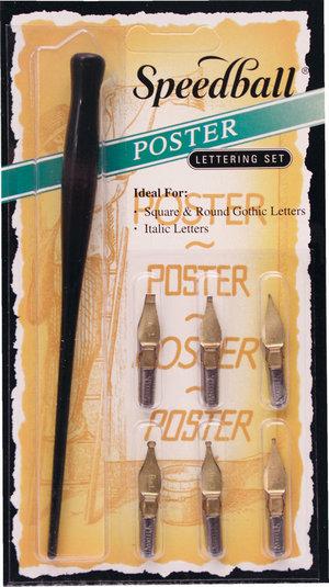 Speedball Ink Dip Pen Poster Lettering Set Preview