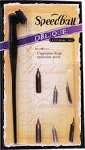 View Item Speedball Calligraphy Dip Pen Oblique Lettering Set
