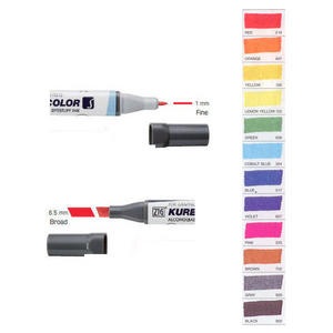 Zig Kurecolor KC3000 Twin S Marker Pens Basic Colours Preview