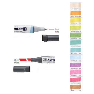 Zig Kurecolor KC3000 Twin S Marker Pens Natural Colours Preview