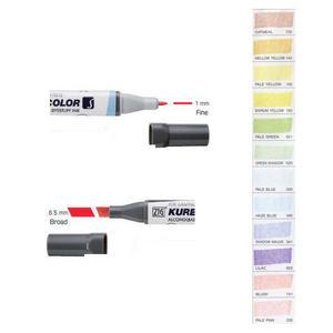 Zig Kurecolor KC3000 Twin S Marker Pens Pale Colours Preview