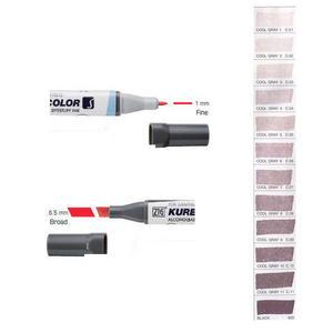 Zig Kurecolor KC3000 Twin S Marker Pens Cool Greys Preview