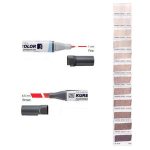 Zig Kurecolor KC3000 Twin S Marker Pens Warm Greys Preview