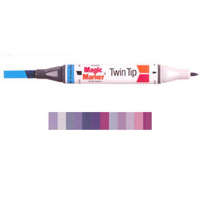 Magic Marker Twin Tip Marker Pen - Purples Preview