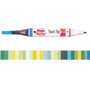 Magic Marker Twin Tip Marker Pen - Greens Preview
