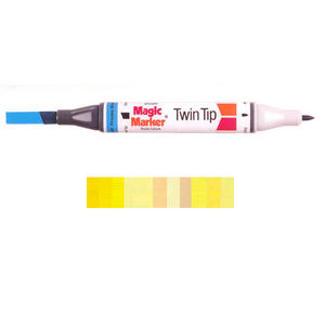 Magic Marker Twin Tip Marker Pen - Yellows Preview