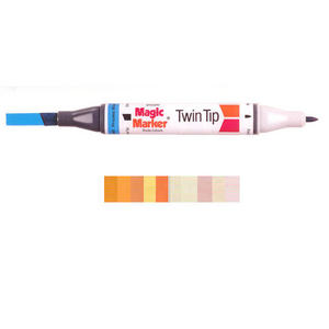 Magic Marker Twin Tip Marker Pen - Oranges Preview