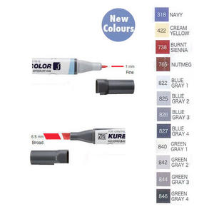 Zig Kurecolor KC3000 Twin S Marker Pens New Colours Preview