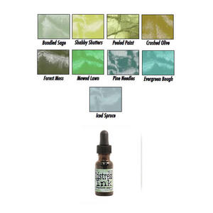 Tim Holtz Distress Ink Pad Re-Inker 14 ml Bottle Greens Preview