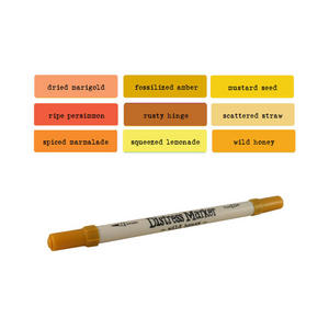 Tim Holtz Distress Ink Fine & Brush Dual-Tip Marker Pen - Oranges/Yellows Preview