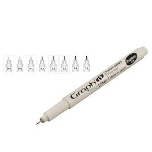 Graphit Fine Liner Marker Pen Black Preview