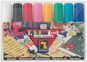 Zig Posterman Chalkboard Marker Pen 8 Colour Set 15mm Preview