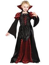 Child Girls Scary Vampiress Costume