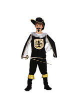 Child French Musketeer Black Costume