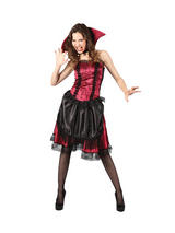 Ladies Bloodthirsty Victorian Vampiress Costume