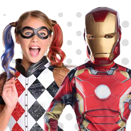 Children's Superheroes & Super Villains Costumes
