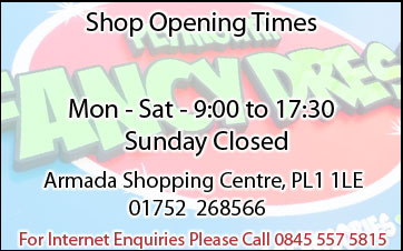 Plymouth Fancy Dress Shop Opening Times