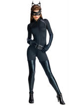 Ladies Sexy Catwoman Jumpsuit Deluxe Costume