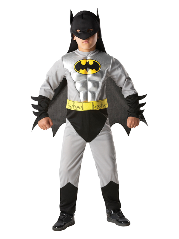 Batman Grey Muscle Boy's costume