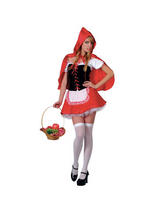 Ladies Red Hot Little Red Riding Hood Costume