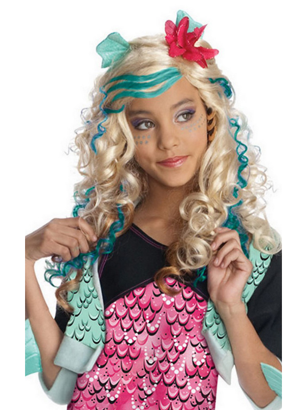 sentinel licensed child lagoona blue wig fancy dress monster high halloween costume kids