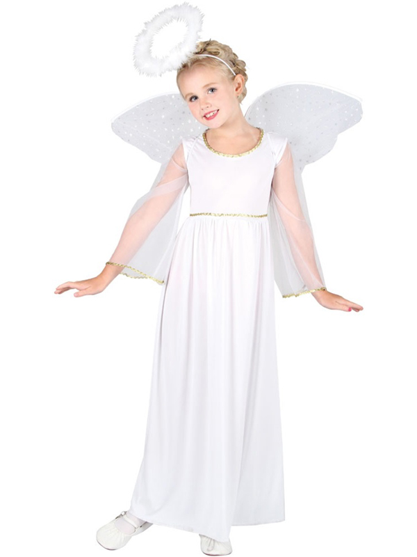 Child-White-Angel-Fancy-Dress-Costume-Christmas-Xmas-Nativity-Girls-Female-BN