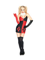 Official Batman Sexy Harley Quinn Ladies Costume