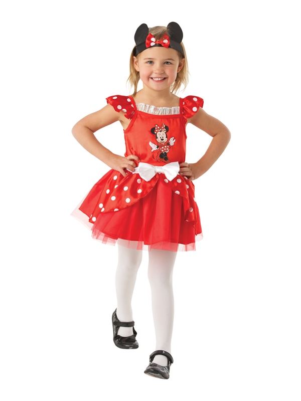 Child Red Minnie Mouse Ballerina Costume
