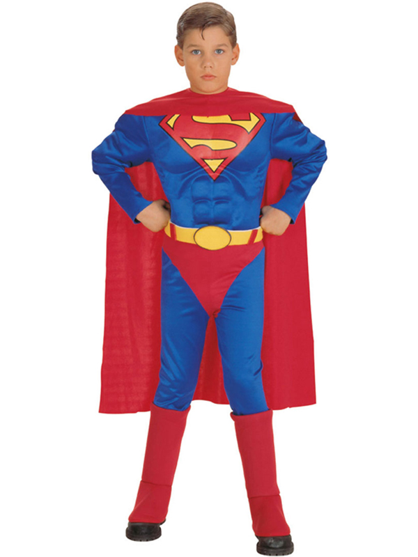 Child Muscle Chest Superman Costume