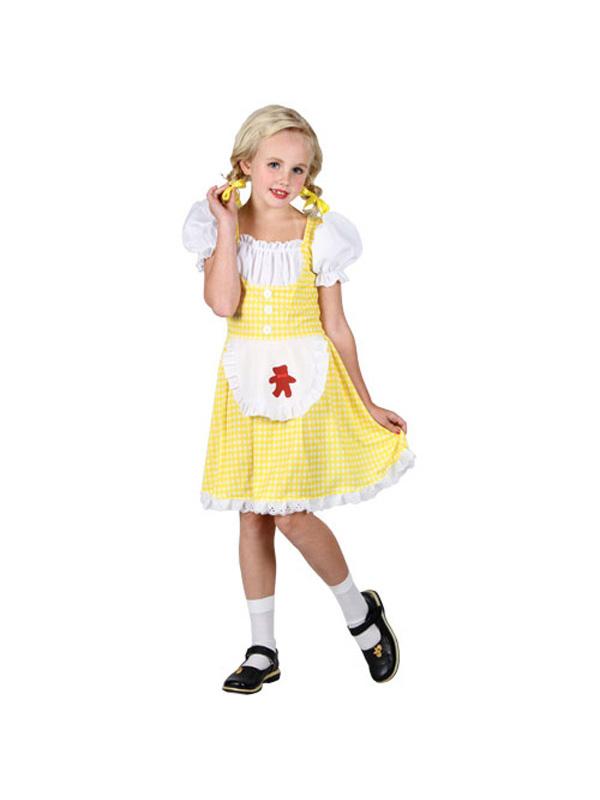 Goldee Locks Goldilocks Fairy Tale Storybook Dress Up Halloween Adult Costume