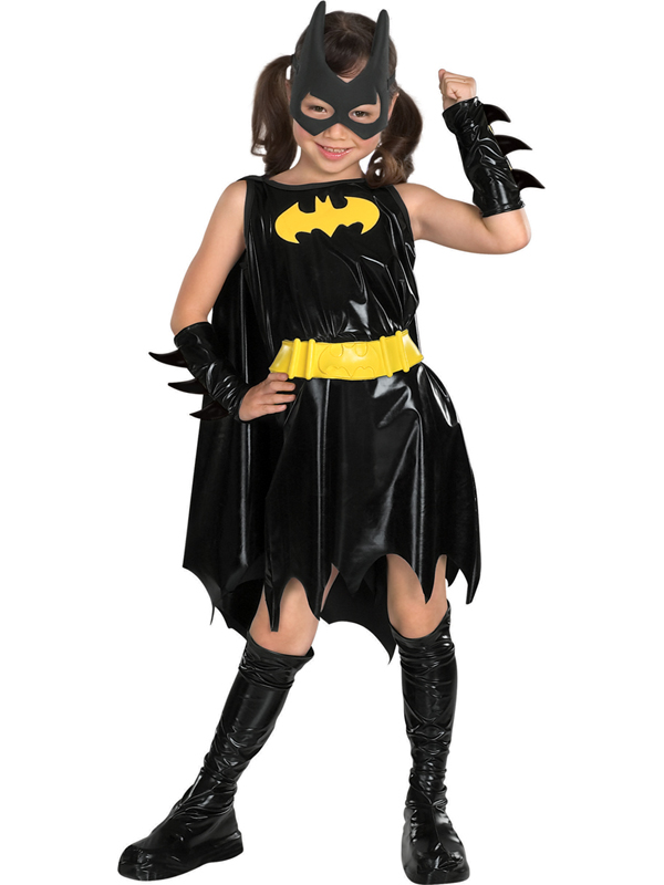 Child Batgirl Outfit Fancy Dress Costume Book Week Superhero Batman Kids girls