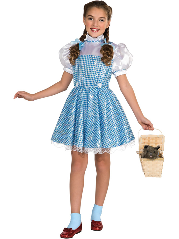 Wizard of Oz Sequin Dorothy Girl's Costume