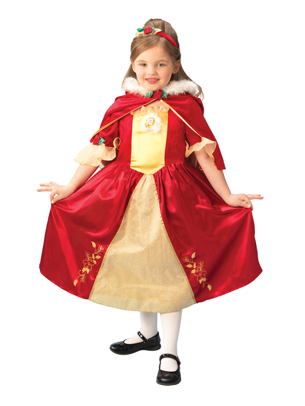 Disney Beauty And The Beast Red Belle Platinum Costume