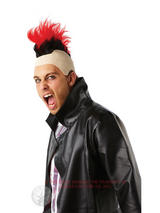 Red Punk Mohawk Wig
