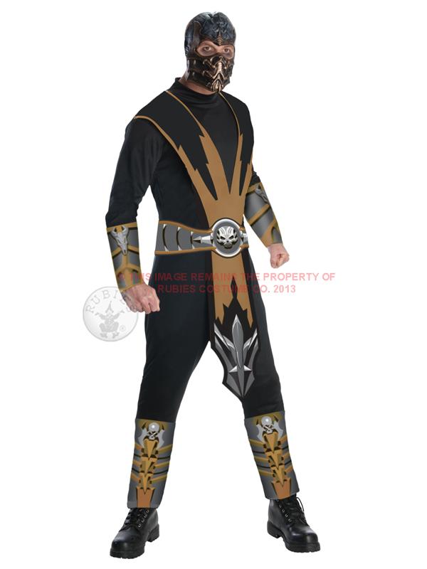 Mortal Kombat Scorpion Men's Costume